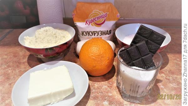 Необходимые ингредиенты для печенья