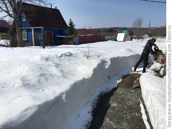 Остатки снега в конце апреля