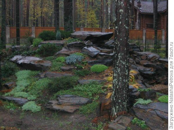 Кусок дикого ландшафта на участке . Фото из архива камнеобрабатывающей компании Петрополь