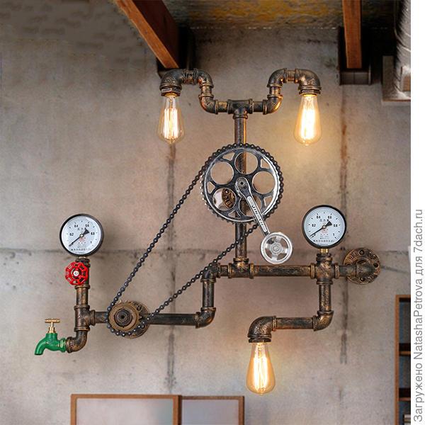 Светильник в стиле стимпанк китайского производства. Фото с сайта www.aliexpress.com