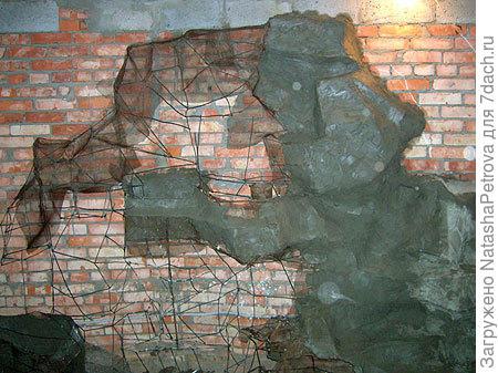 каркас на стене