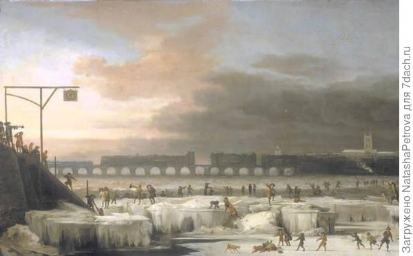 Замёрзшая Темза. Абрахом Хондиус, 1677 год. Фото с сайта ice-age-ahead-iaa.ca