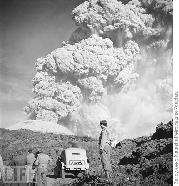 Извержение Везувия 1944