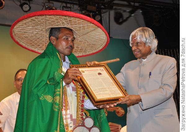 Награждение Джадава Пайенга премией Падма Шри. Фото с сайта jadavpayeng.org