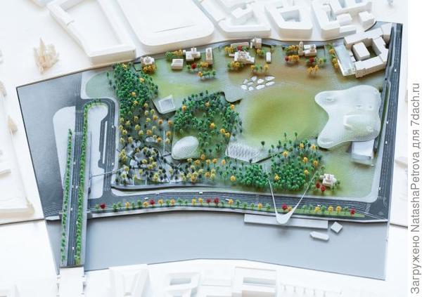 Схема парка. Проект. Фото с сайта zaryadye.org