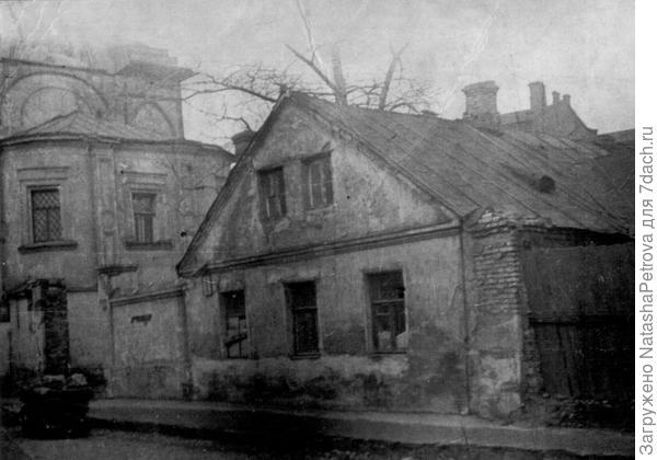 Мокринский переулок в Зарядье. 1936-1938 годы. Фото с сайта oldmos.ru