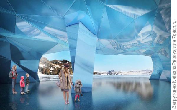 Интерьер Ледяной пещеры. Проект. Фото с сайта stroi.mos.ru