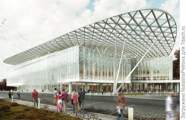 Проект концертного комплекса в Зарядье. Фото с сайта stroi.mos.ru