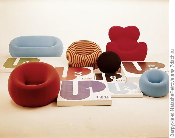 Диваны и кресла из литого пенополиуретана. Дизайнер Гаэтано Пеше, коллекция UP 2000 SERIES. Фото с сайта http://www.gaetanopesce.com