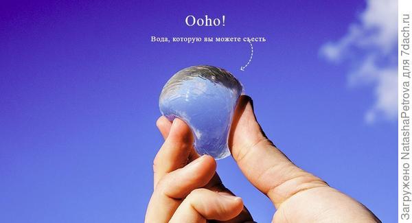 Вода, которую вы можете съесть. Фото с сайта oohowater.com