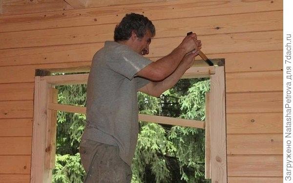 Пластиковые окна в деревянном доме: устройство окосячки