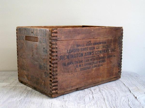 Винтажный ящик. Фото с сайта https://www.etsy.com