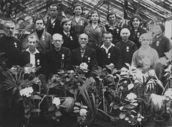 Сотрудники Ботанического сада. Фото из архива Ботанического сада http://botsad-spb.com
