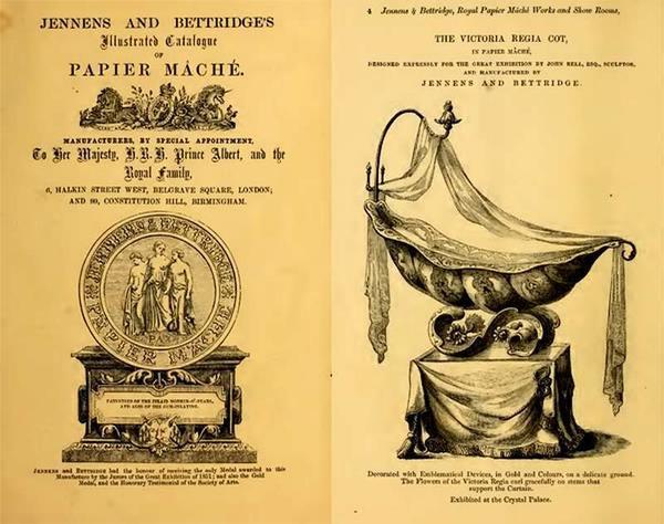Рекламный буклет мебельной фирмы Jennens и Bettridge. Фото с сайта https://www.mascaron.su