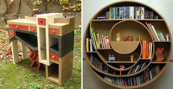 Для картонной мебели нет ограничений в форме. Фото с сайта https://www.ponoko.com