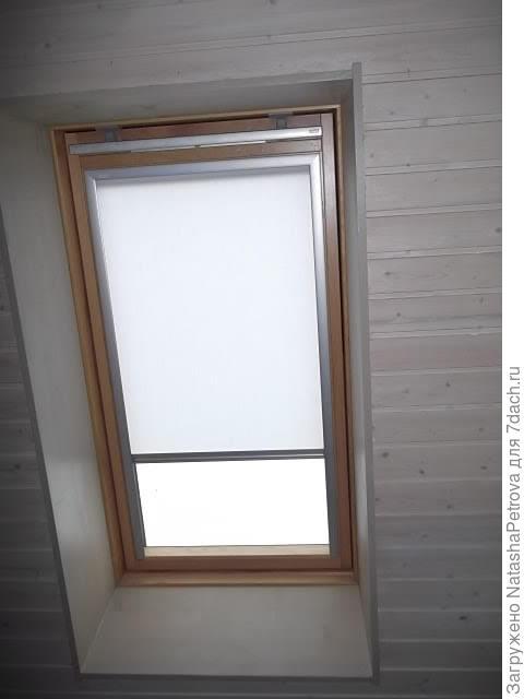 """Вагонка - цвет """"Снег"""", деревянные откосы окна - цвет """"Береста"""""""