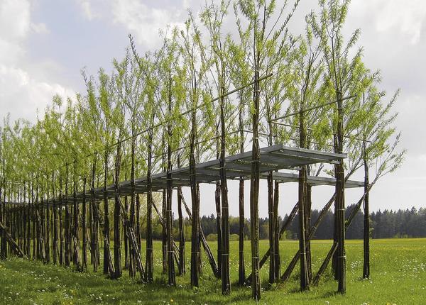 Пешеходный мост в строительно-ботанической технике. Проект бюро Ludwig.Schoenle. Фото с сайта ferdinandludwig.com