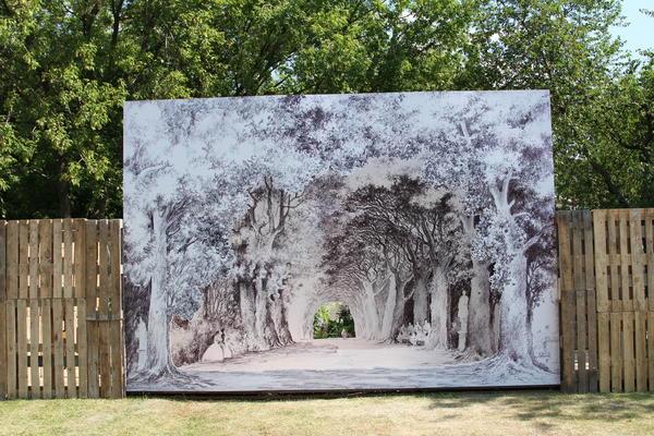 Сад Зеркала природы Клода Паске и Коринн Детруайя. Фото Елены Зотовой