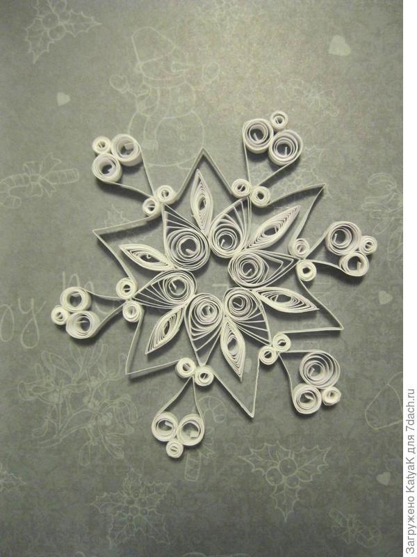квиллинг снежинка