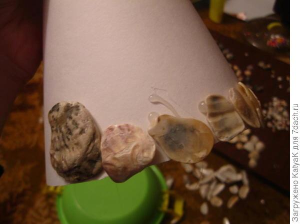 морская елочка из ракушек
