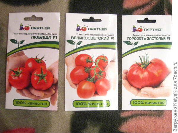 семена томатов от партнера