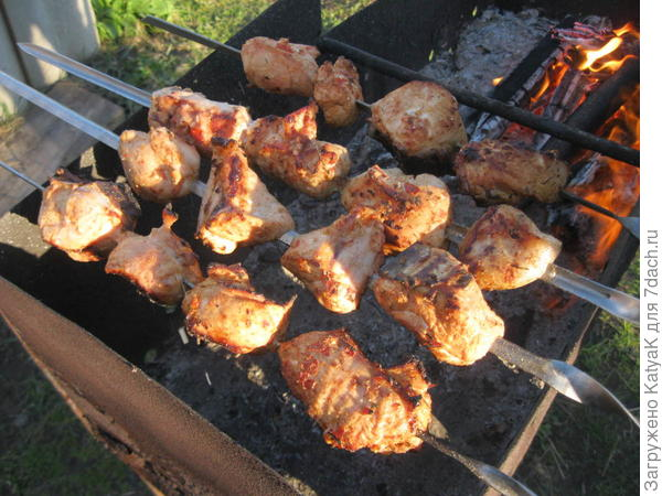шашлык из куриной грудки