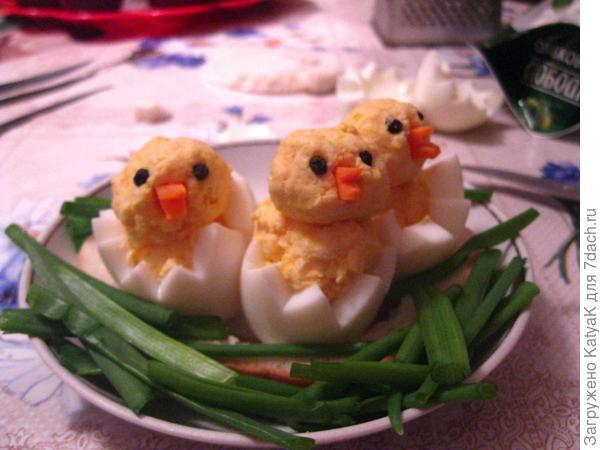 закуска из яиц цыплята