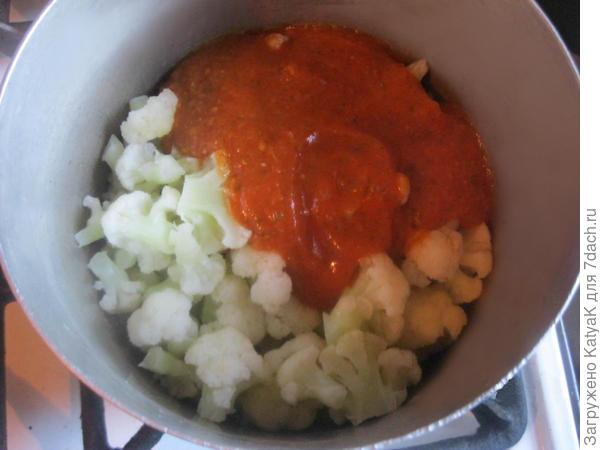 Цветная капуста с соусом