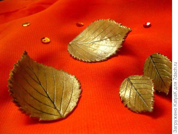 Осенние листья из полимерной глины, украшения