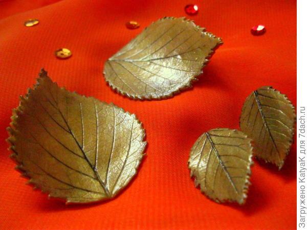 украшения из полимерной глины осенние листья