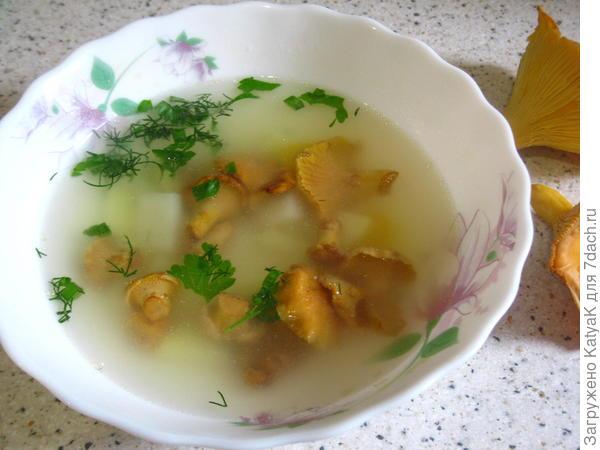 Суп со свежими лисичками - пошаговый рецепт приготовления с фото