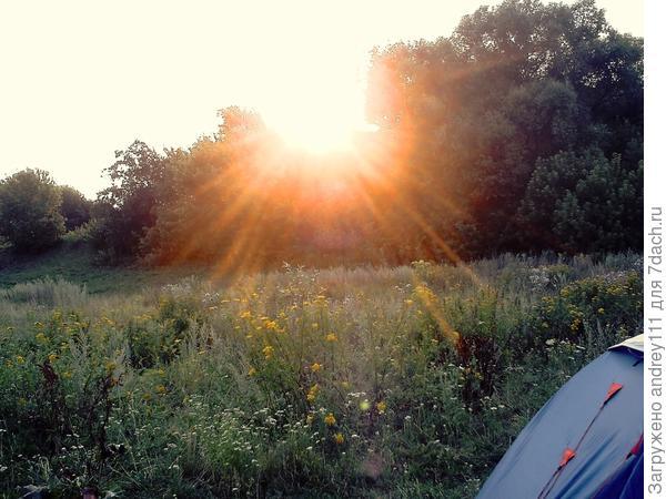 Солнце садится (возле деревни Чернава)