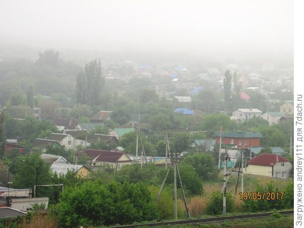 Вот она, погода... Вернее непогода. Такого в мае в Волгограде не бывает. Пусть это будет неправда! НЕ ПРАВДА ЭТО!!!