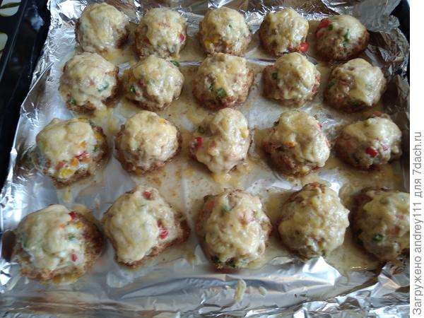 Маффины из куриного филе с овощами и сыром. Пошаговый рецепт с фото