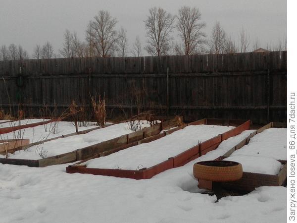 Зимой все было укрыто снегом