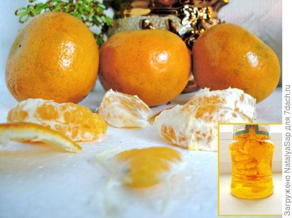 мандарины и масло
