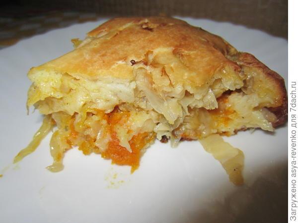 Бабушкин пирог с капустой