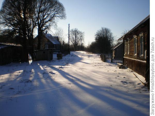 Зима в деревне Вярьмово