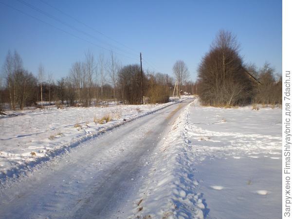 Дорога в деревню Мышково
