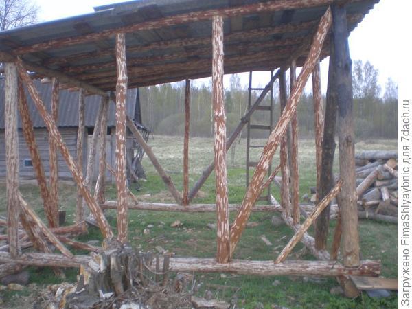Здесь буду складывать дрова