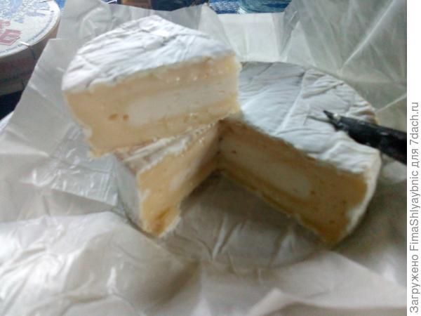 Сыр камамбер, привезенный друзьями из Франции на пробу