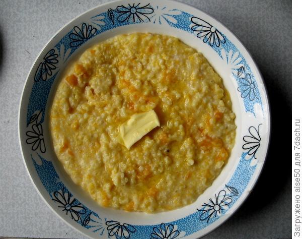 Тыквенная каша — вкусный и полезный завтрак - пошаговый рецепт приготовления с фото