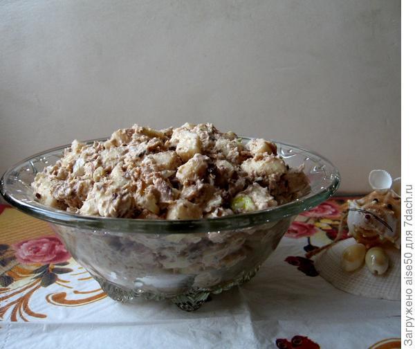 Яблочный салат с тунцом - пошаговый рецепт приготовления с фото