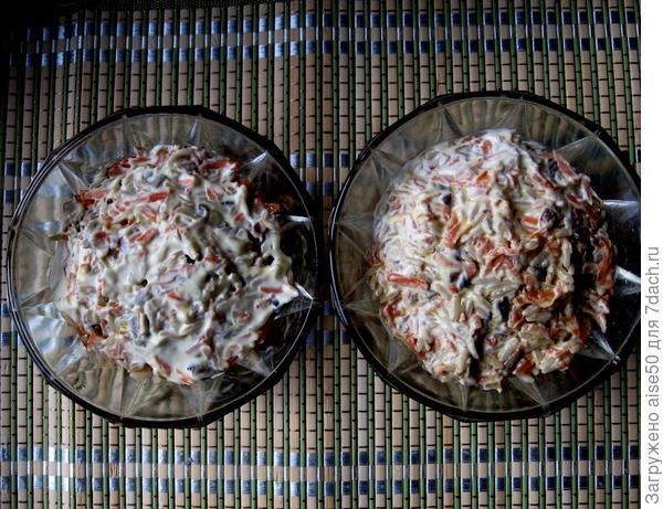 Салат из шампиньонов