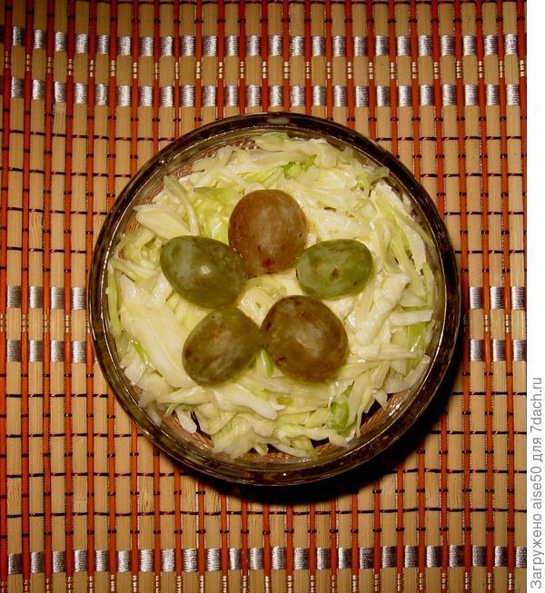 Салат из свежей капусты с яблоком и сладким перцем. Рецепт с пошаговыми фотографиями