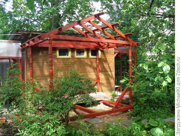 Готовая конструкция без крыши