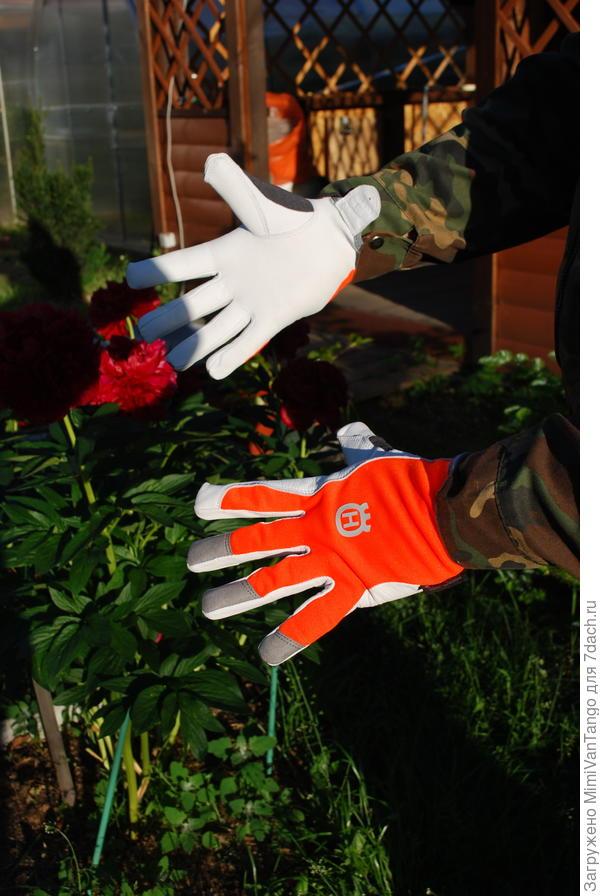 Перчатки от Husqvarna,сейчас уже по размеру.