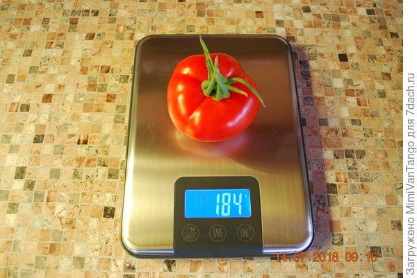 Вес крупных плодов.