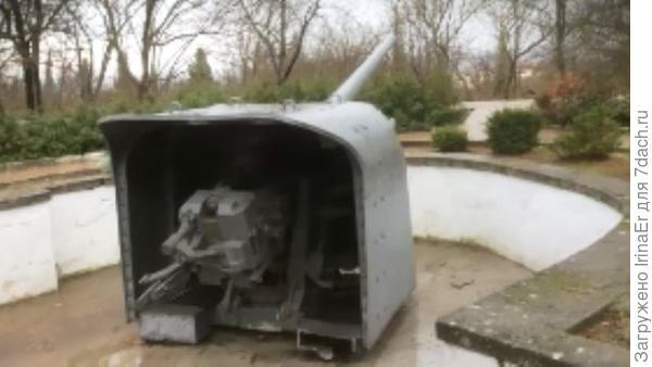 орудие батареи Алексея Матюхина