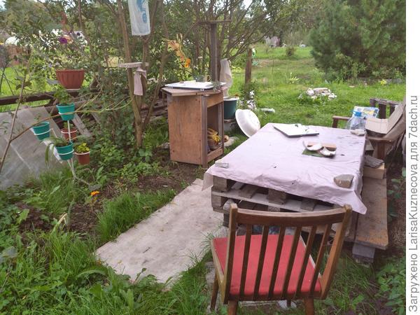моя летняя кухня за домом